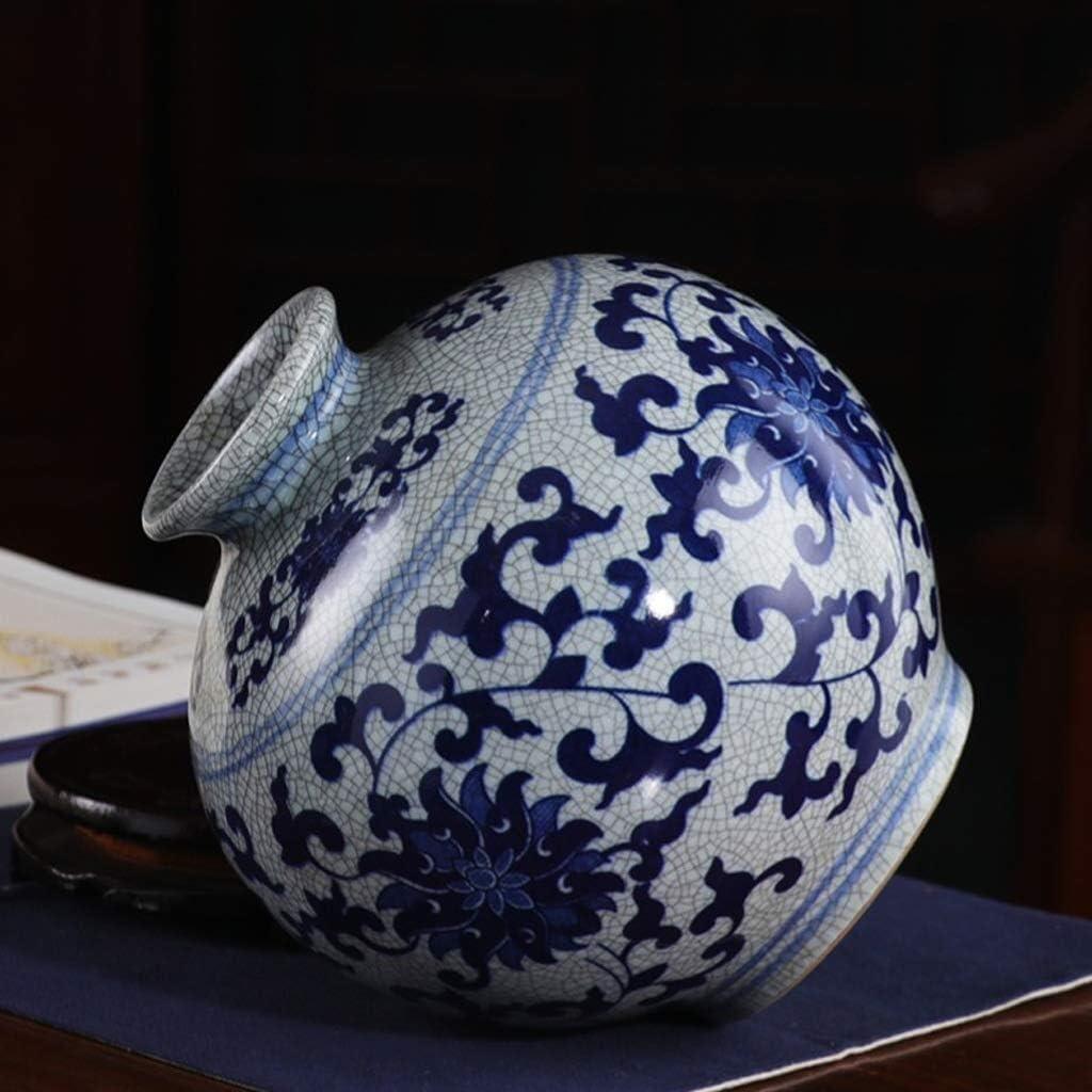 Ceramica Antico Vaso dellAnnata Crepa Smalto Color : Multi-Colored Blu E Bianco della Porcellana del Salone della Decorazione Decorazione Domestica