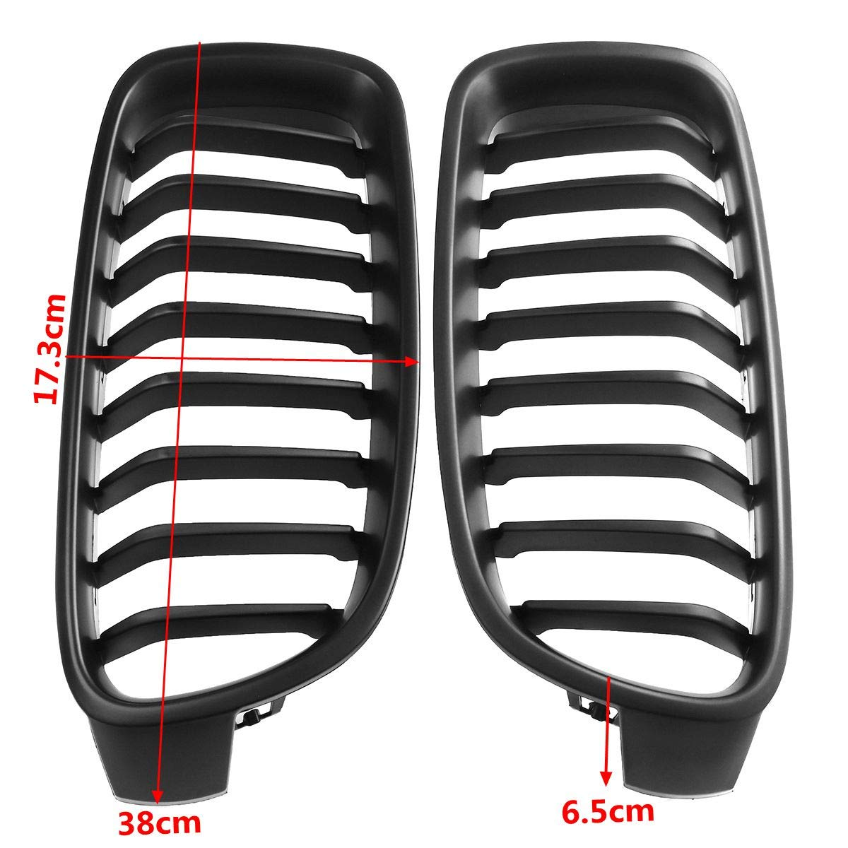 1 Pair Matte Black Front Kidney Grill Sport Style Grilles Front Bumper Grill Grille Guard Replacement Fit for BMW F30 F31 F35 3 Series 2012-2017 Car Accessories