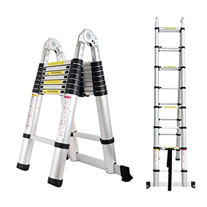 Amazon.com: (Tele Ladder 250D 16) 16.4ft Portable Heavy Duty Ladder ...