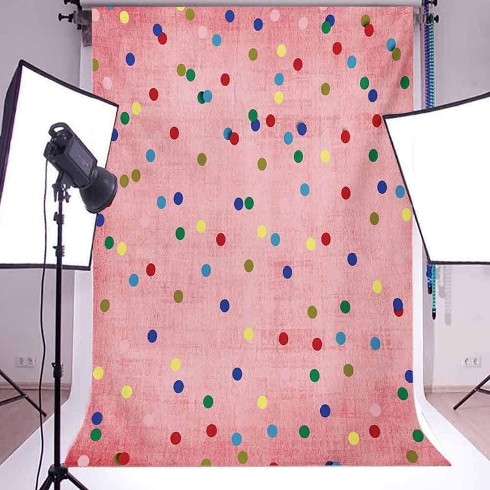 Spots 10x15 FT Photography Backdrop Retro Classic Spots Design with Circles Geometric Design Pink Background Image Print Background for Baby Birthday Party Wedding Vinyl Studio Props Photography