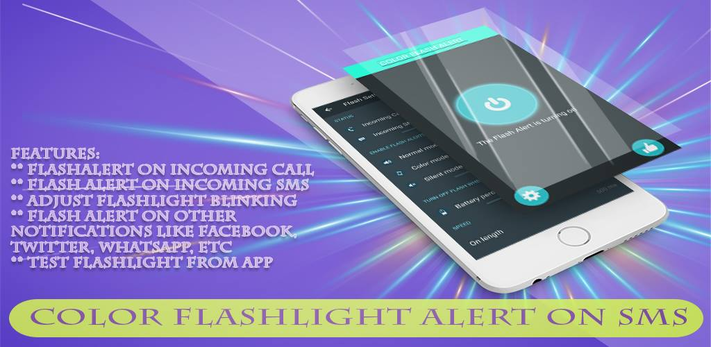 Amazon com: color flashlight alert on CALL &SMS: Appstore for Android