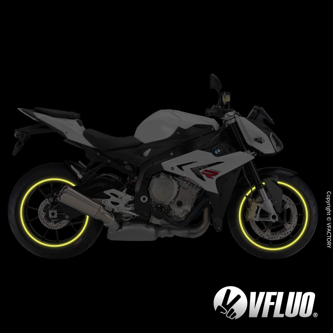 3M Technology/™ VFLUO CIRCULAR/™ 1 wheel Gold 7 mm width motorcycle retro retro reflective wheel stripes kit