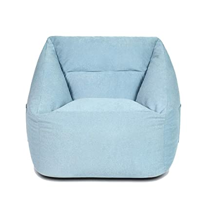 Com Beanbag Single Bedroom Lazy Sofa Modern Mini Small Lounge Chair Gaming Floor Color Light Blue Kitchen Dining