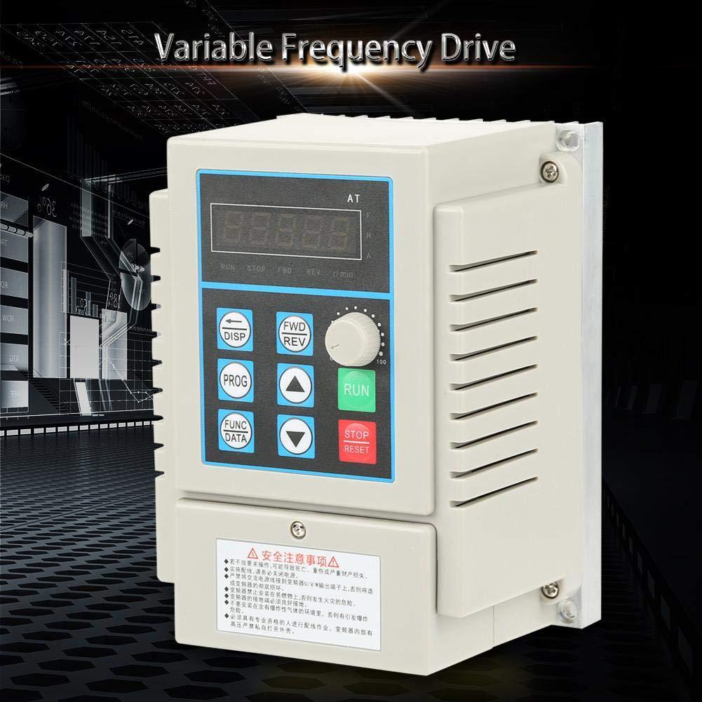 AT1-2200X 2.2KW AC 220V Monophas/é Inverseur Universel Convertisseur de fr/équence Entra/înement /à Fr/équence Variable VFD pour Moteur Triphas/é