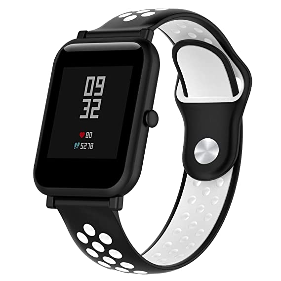 Techrace Correa para Amazfit Bip, Silicona Universal Pulsera Impermeable 20mm para Huami Amazfit Bip Youth Watch Galaxy Gear S2 Classic, Huawei Watch ...