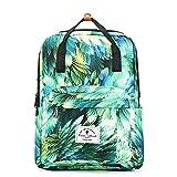 Cheap Travel Backpack,Original Floral Leaf Lightweight Fashion Rucksack for Gym Travel School Shoping Yoga Hiking Swimming Unisex (Green 2)
