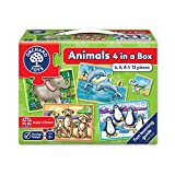 Orchard My First Counting Puzzles, Four in A Box, Animals