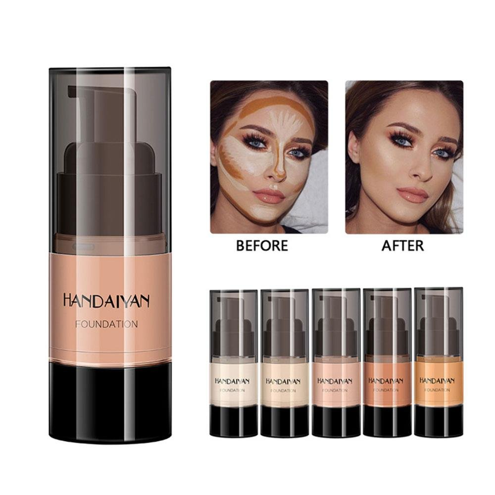 Kobwa Waterproof Smooth Matte Flawless Finish Creamy Concealer Foundation for Face Concealer Makeup Skin Evolution Liquid Foundation 8 Colors - 0.8OZ
