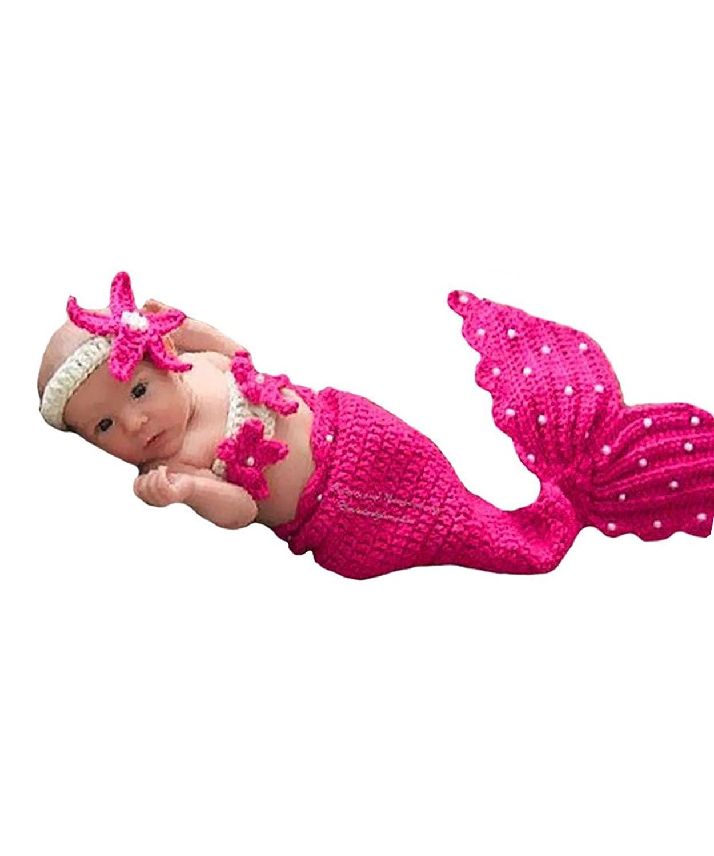 AKAAYUKO Bebé Recién Nacido Hecho A Mano Crochet Foto Fotografía Prop