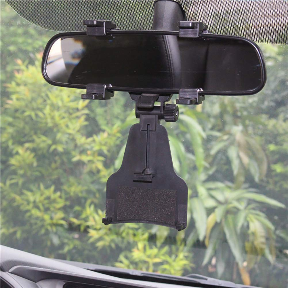 DierCosy Rear View Mirror Bracket car Phone Holder with one-Button Design Instrument Panel White Phone Accessories