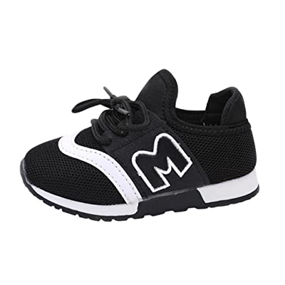2bd9fd5ff1d Amanod Toddler Kids Sport Running Baby Shoes Boys Girls Letter Mesh Shoes  Sneakers