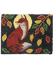 20.5X15 Inch Latch Hook Rug Kits Carpet Embroidery Latch Hook Rug Needlework DIY Rugs Hook Rug Tapestry Kits,Fox