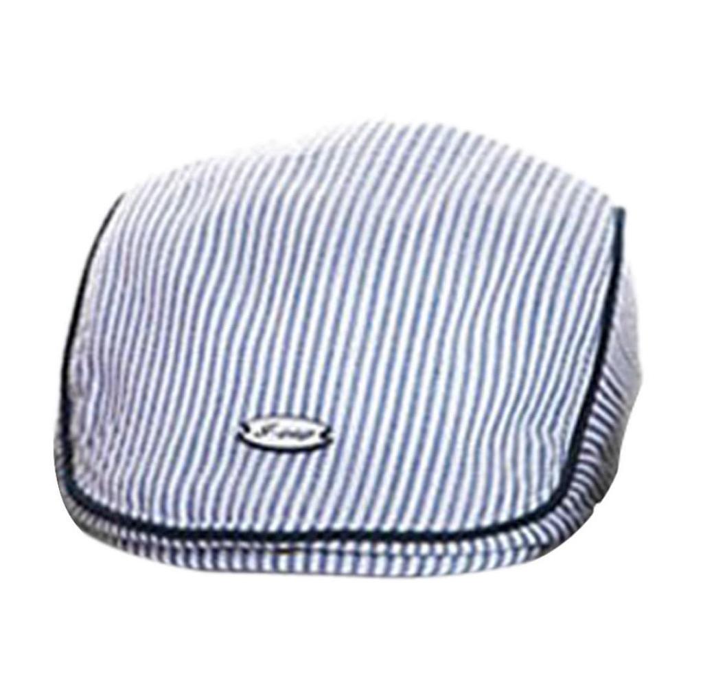 ularma Adorable bebé infantil Niño Niña Rayas boina gorra de béisbol  sombrero negro azul  Amazon.es  Bebé 366c87c1629