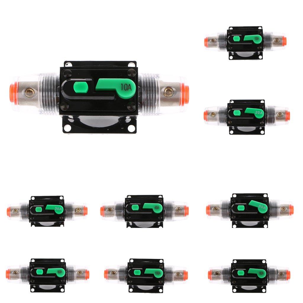 15A Sharplace Disjoncteur Porte Fusible Audio St/ér/éo 12V 24V 32V de Voiture