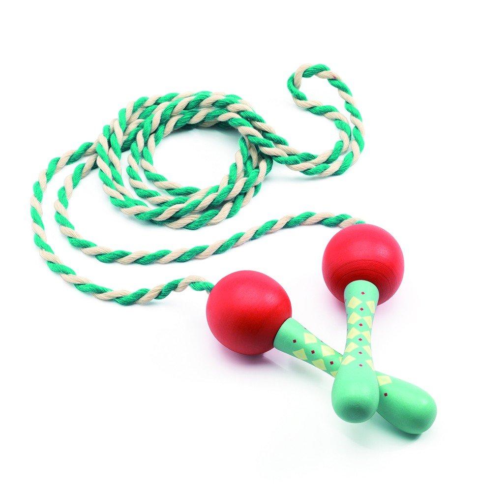 Multicolore djeco Giochi d azione e reflejosjuegos di habilidaddjecojuego abilit/à cordelia corda per saltare 15