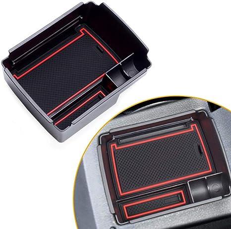 Für Golf 7 Mittelkonsole Armlehne Aufbewahrungsbox Einsatz Organizer Tablett Armrest Storage Box Tray Abs Auto