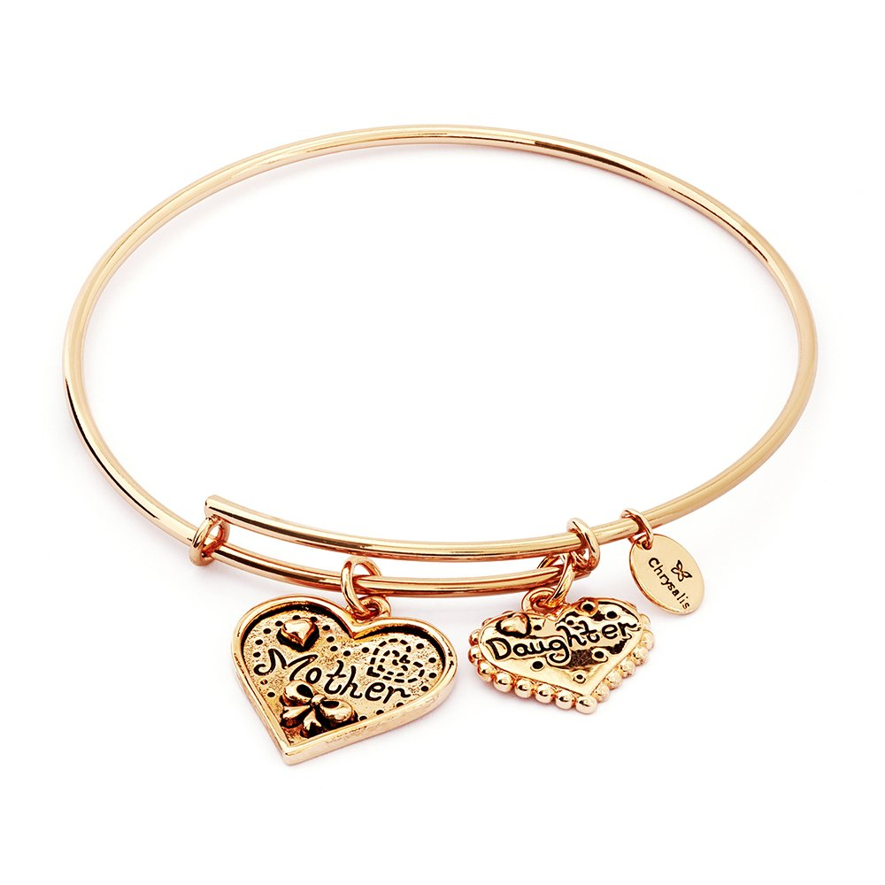 0b27dfa19cce4 Chrysalis, Mother and Daughter 18k rose gold plate double heart ...