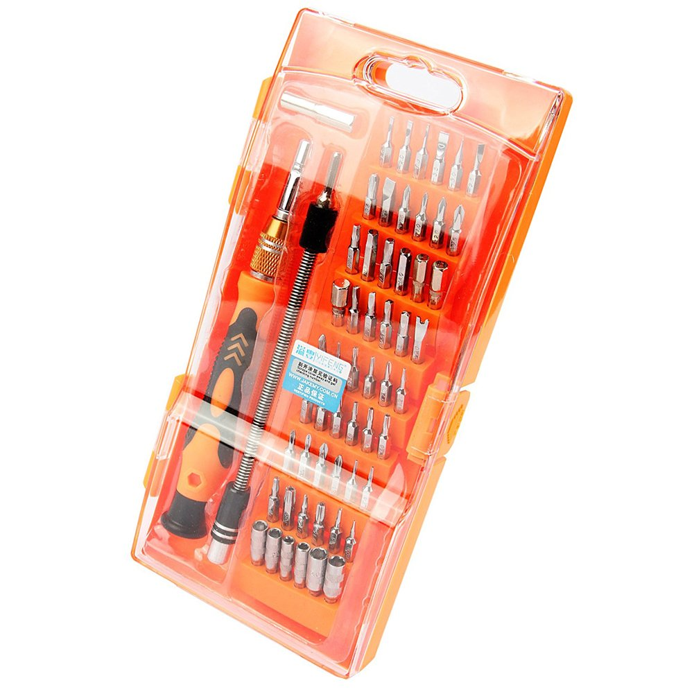 58 in 1 Hardware Hand Tool Screwdriver Set for iPhone iPad Smartphones Tablet Electronics and Home Appliances Repairing ALLIMITY JM8125 Screwdriver Kits
