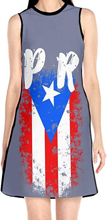 Amazon.com: Puerto Rico PR Flag Women's Sleeveless Dress