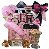 Art of Appreciation Gift Baskets Dressed To Impress Peony Floral Spa Bath and Body Care Package Gift Box