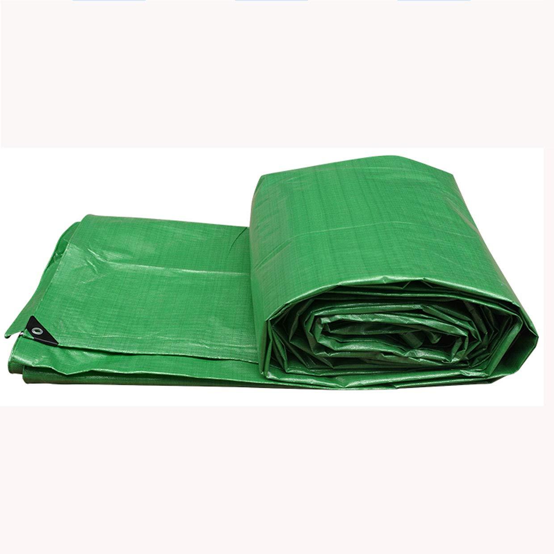 LRZS Plastik-PET-Markise-Tuch-regendichte Tuch-Wasserdichte Sunscreen-Schattierung-Isolierungs-Plane-Farbstreifen-Tuch-Dreirad-Kabinendach-Grün (Farbe : Grün, größe : 4  4m)