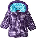 Pink Platinum Baby Girls' Foil Dot Puffer, Purple, 24 Months