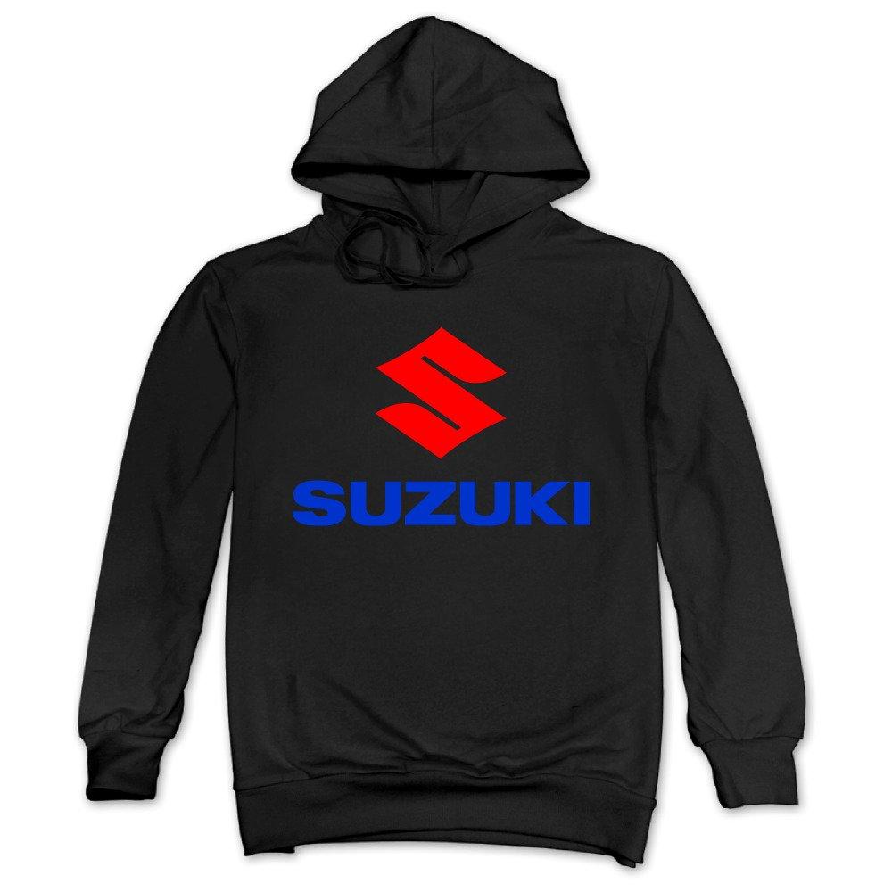 Feniay Suzuki Motorcycle Logo Mens Hooded Sweatshirt