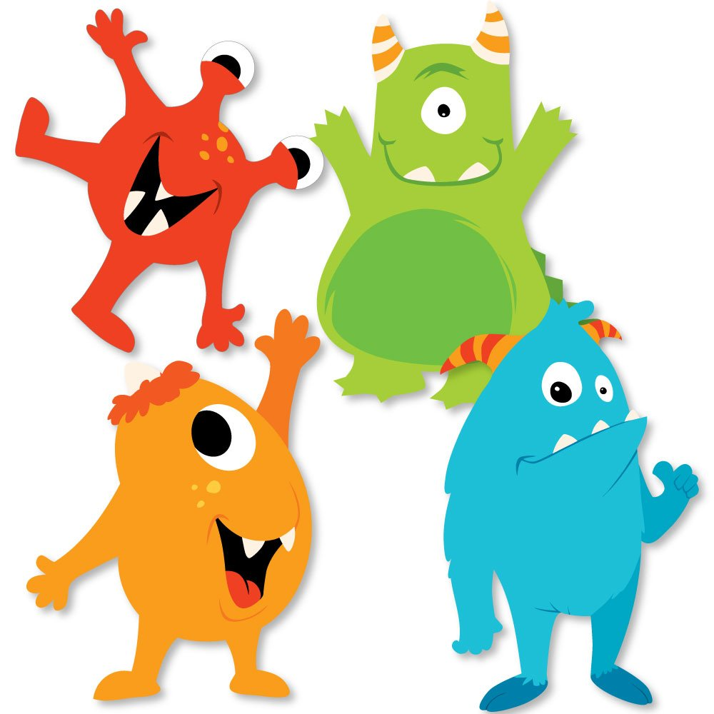 Monster Bash - Decorations DIY Little Monster Birthday Party or Baby Shower Essentials - Set of 20 by Big Dot of Happiness
