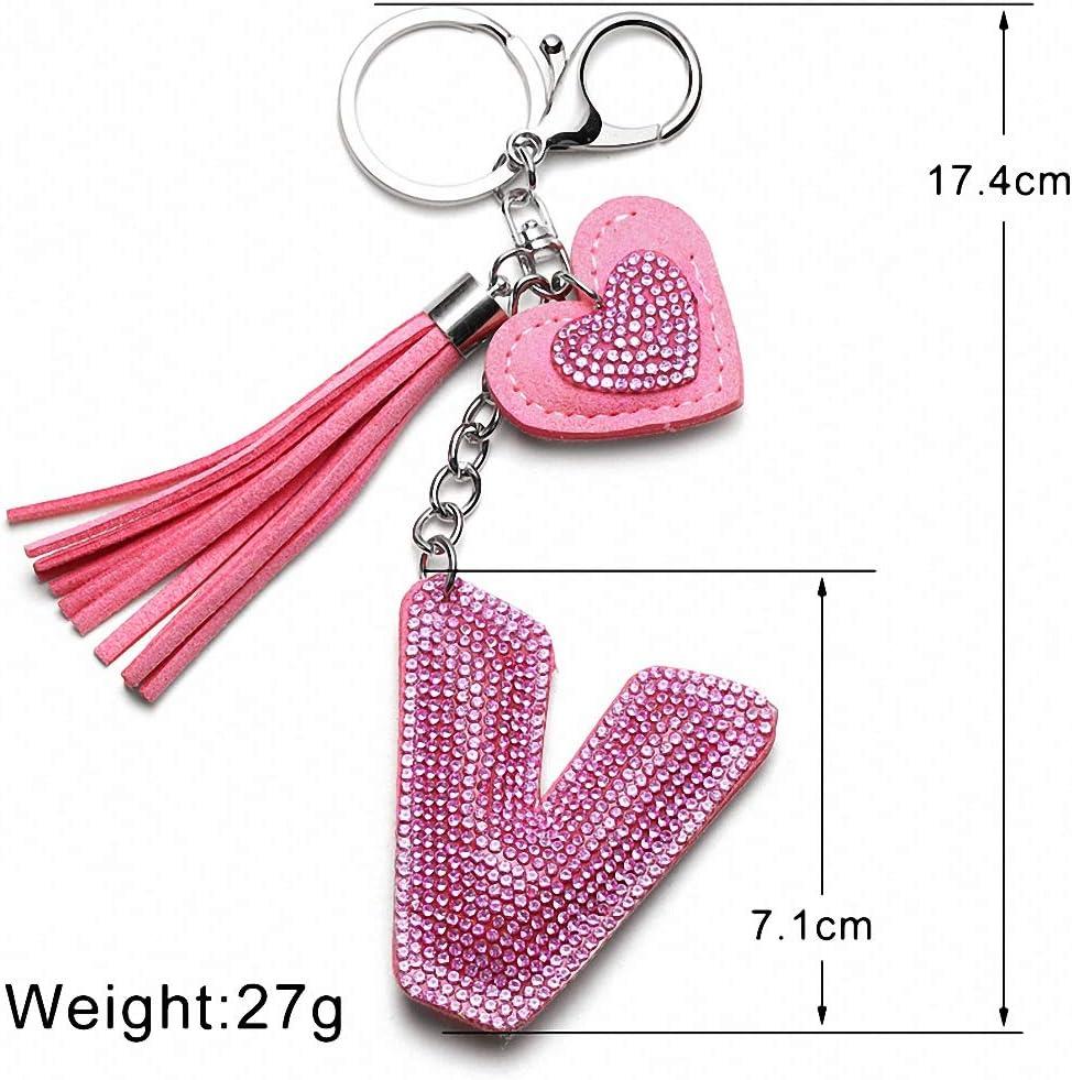 Bag Keychain Inspiration Designer fleur 4 ever Love Key Chain Sac à main charme cristaux