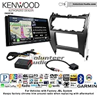 Volunteer Audio Kenwood DNX874S Double Din Radio Install Kit with GPS Navigation Apple CarPlay Android Auto Fits 2012-2013 Toyota Camry with Amplified System