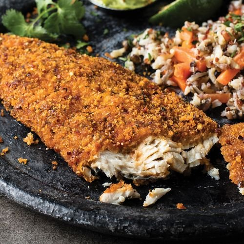 Rainbow Trout Fillets - Omaha Steaks 4 (5.75 oz.) Harissa-Encrusted Rainbow Trout Fillets