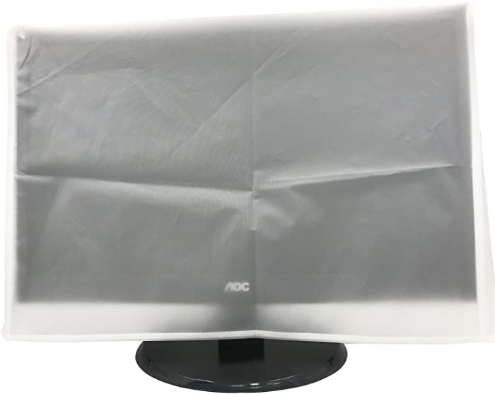 SZBRO Monitor Dust Cover LED/LCD Computer Monitor Water Proof Protective Case (24W x16H x3-Top/8-Bottom)