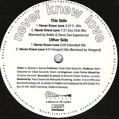 - Never knew love (4 versions, 1996, incl. Zoo Club Mix) / Vinyl Maxi Single [Vinyl 12'']