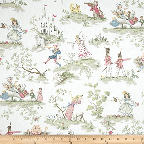 (Covington Fabrics & Design Covington Over The Moon Fabric by The Yard, White)