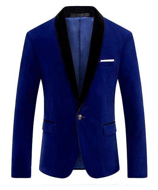 718b48736454b MOGU Giacca da Uomo in Velluto Blu e Giacca Blazer Blu  Amazon.it   Abbigliamento