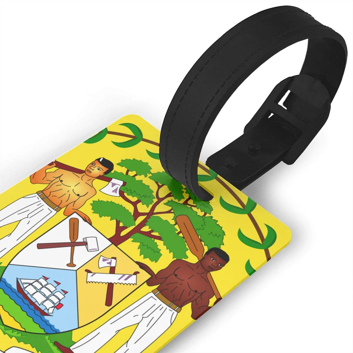 KODW12 Coat of Arms of Belize Luggage Tag Travel Bag Labels Suitcase Bag Tag Name Address Cards by KODW12 (Image #3)