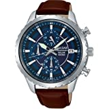 Pulsar Gents Solar Chronograph Stainless Steel Strap Watch