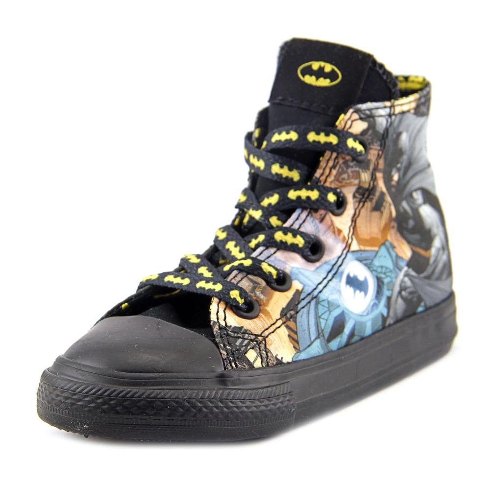 Converse Chuck Taylor All Star Hi Batman Sneaker, Toddler, Black/Multi, 8