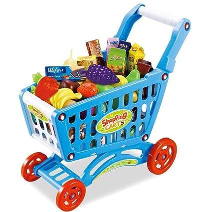 RFJJAL Bebé Simulación para niños Supermercado Carritos de ...