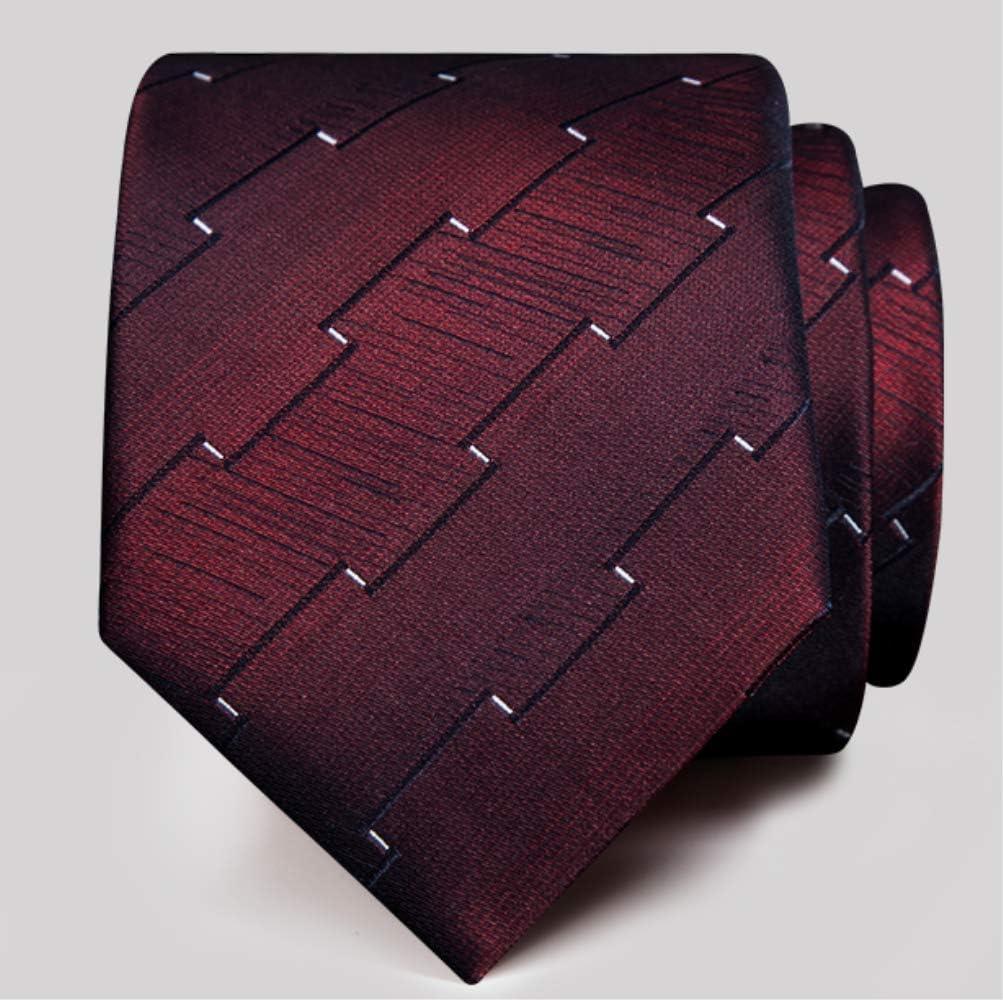 XYXZH corbata Elegante Rojo Tie Hombres Formal Negocios Carrera De ...