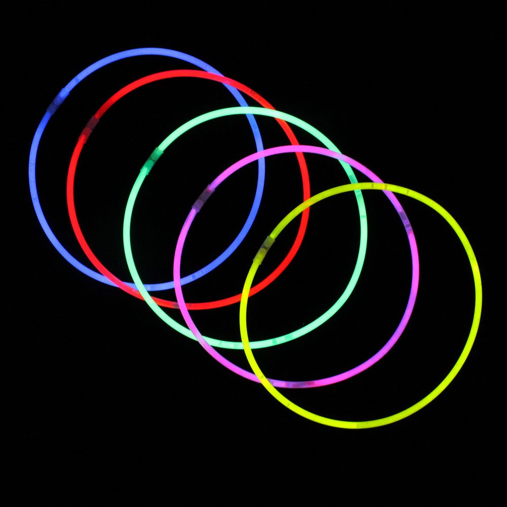 Crown Display 1000 8'' Glow Light Stick Bracelets WHOLESALE PACK…