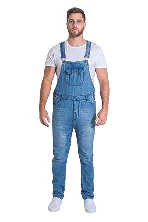 36dd0c887fbb USKEES Jesse Skinny Fit Mens Bib Overalls - Pale Wash Mens Denim ...