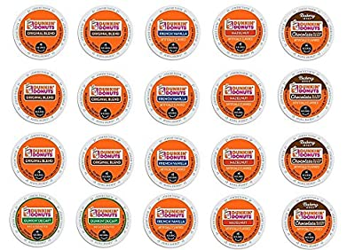 20 Count - Dunkin Donut Coffee Variety K Cups for Keurig K-Cup Brewers and 2.0 Brewers