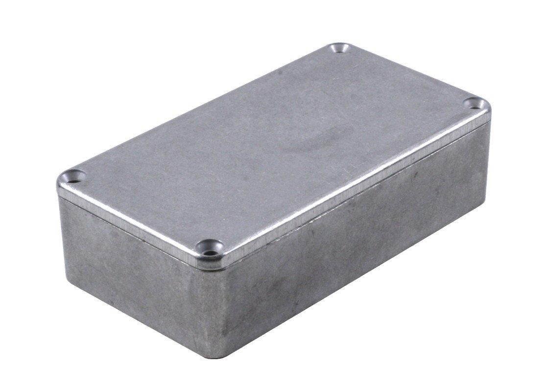 KIT-1590B Box+PCB, Diecast Aluminum Box, Unpainted, with PR1590B PCB, Box = 4.4 x 2.3 x 1.1 in