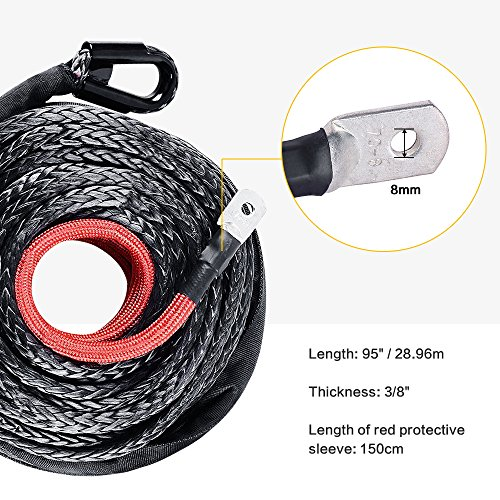 Buy atv winch rope vs cable