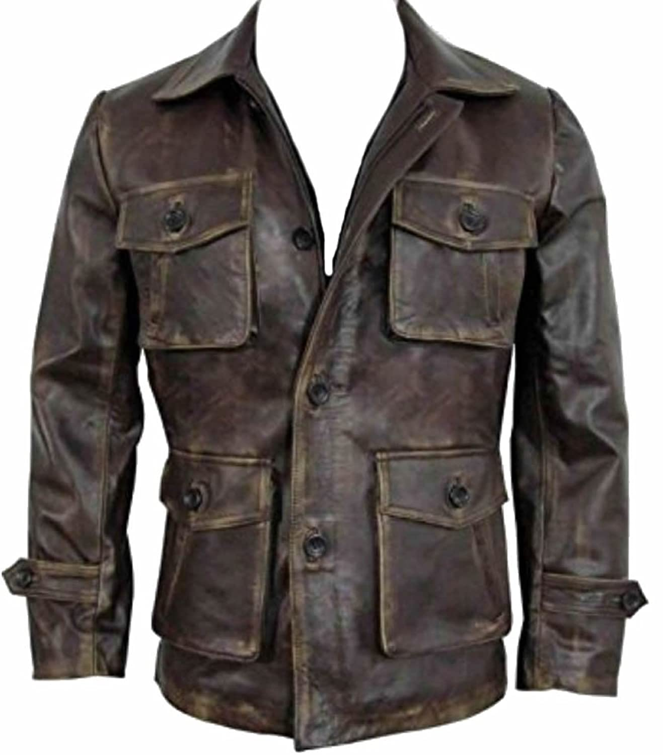 Mens Vintage Fashion Real Distressed Leather Jacket