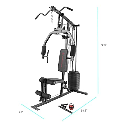 Amazoncom Marcy 100lb Stack Home Gym With Pulley Press Arm And