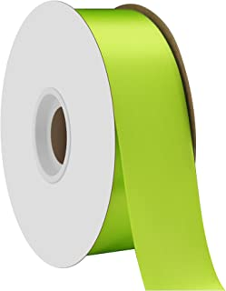 "product image for Offray Berwick 1.5"" Single Face Satin Ribbon, New Chartreuse Green, 50 Yds"