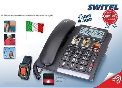 Telefono SalvaLaVita per Anziani con Bracciale SOS Telecomando Pulsante 118 Telesalvalavita Telesoccorso Salvavita Telesalvavita Volume Alto e