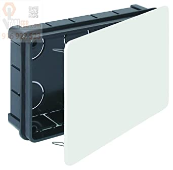 Caja Empotrar Registro Con Tapa 160 x 100 x 45 mm.: Amazon.es ...